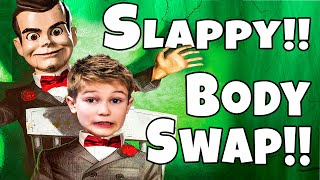 Body Swap with Slappy!! 24 Hours of Slappy revenge! Slappy is the Doll Maker!! Part 3