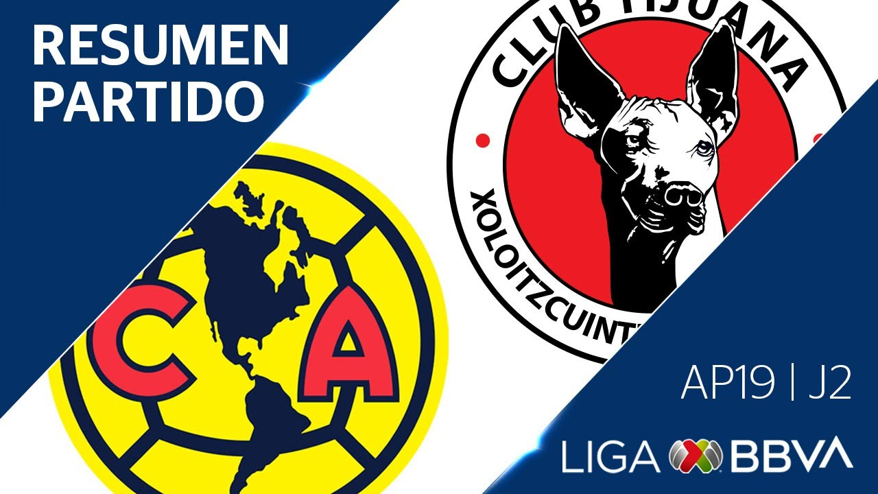 Resumen y Goles  | América vs Tijuana | Apertura 2019  - Jornada 3 | Liga BBVA MX