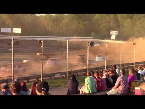 Hummingbird Speedway (6-3-17): Aaron's of DuBois Front-Wheel Drive Four-Cylinder Heat Race