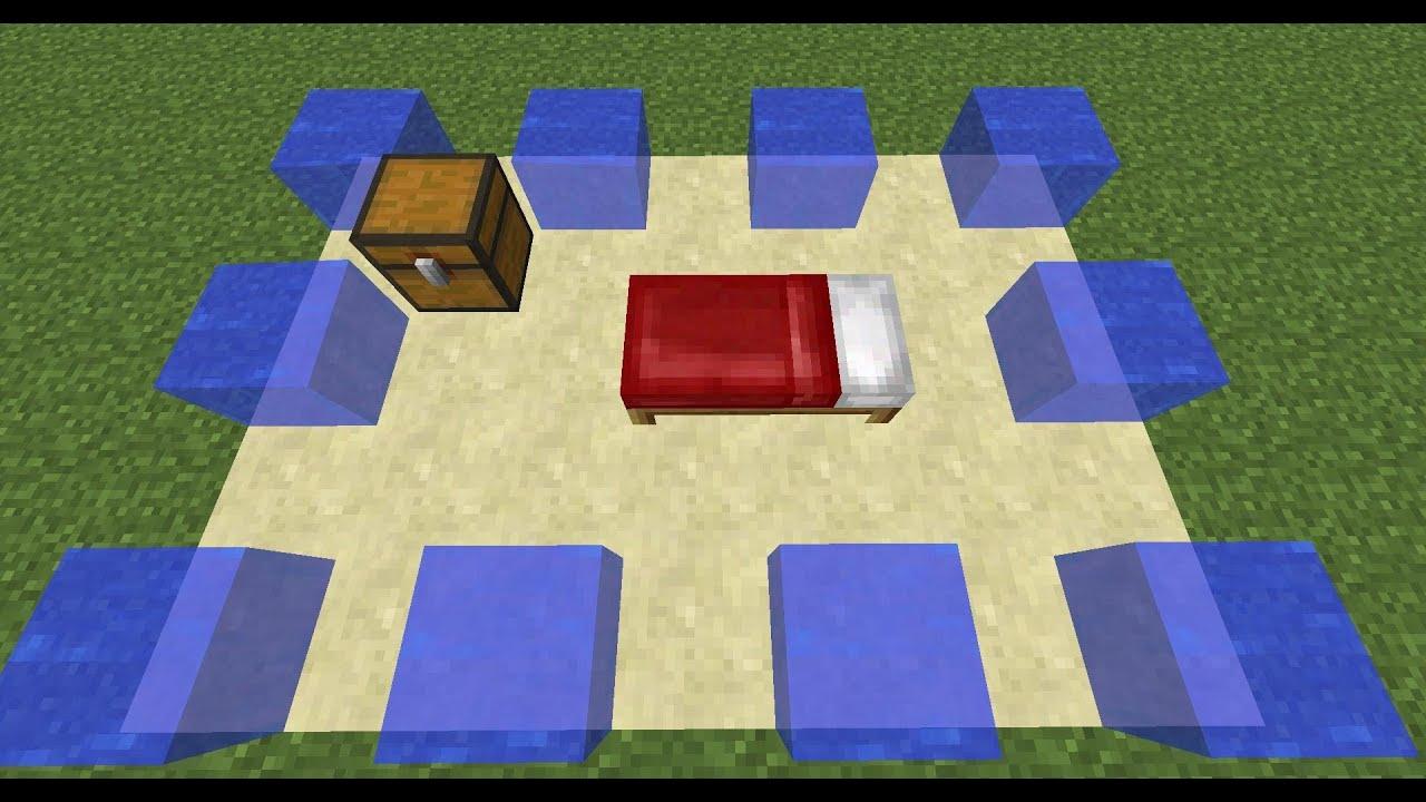 minecraft haus aus wasser bauen doovi. Black Bedroom Furniture Sets. Home Design Ideas