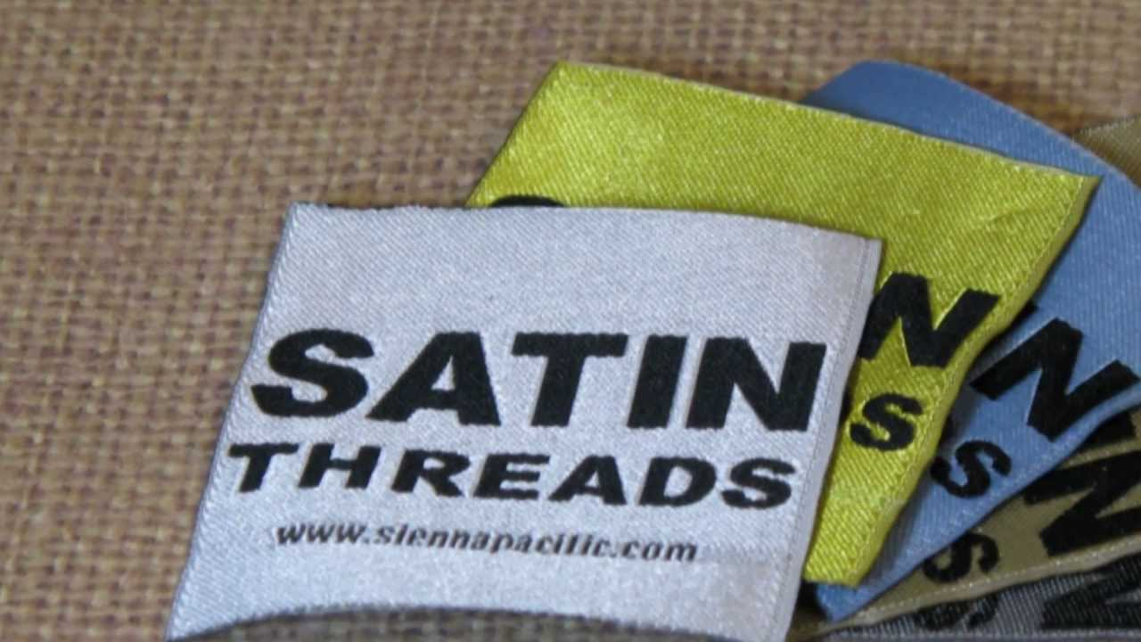 Satin Woven Labels - Satin Damask Woven Clothing Labels - YouTube