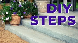 Concrete Steps Pour and Finish