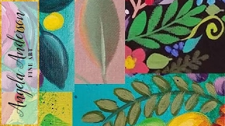 Paint Easy Leaves | Acrylic Painting Quick Tip | Learn 4 Leaf Techniques