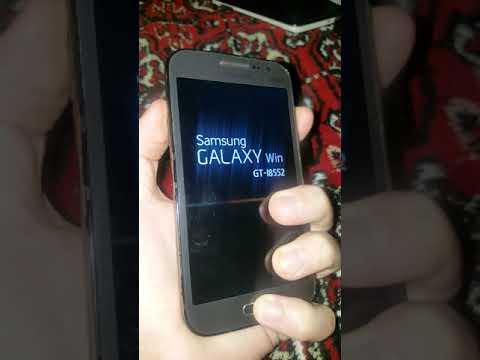 Samsung I8552 Galaxy Win сброс настроек Hard Reset графический ключ пароль зависает висит на заставк