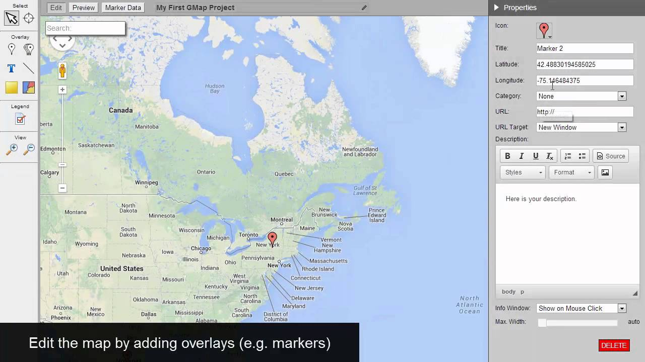 how to create custom map on google