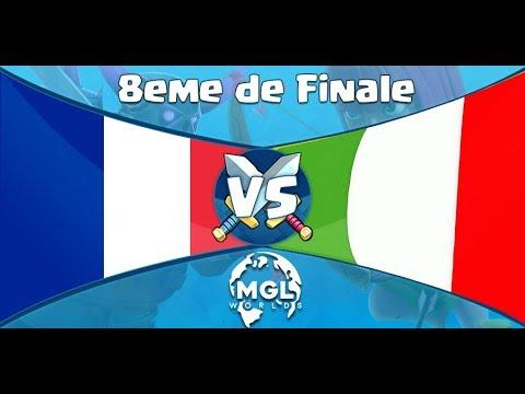 FRANCE vs ITALIE 8eme de FINALE COUPE DU MONDE MGL WORLDS ! feat Axael
