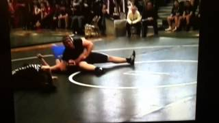 John Hatt pins Presque Isle Wrestler Fast in 2008 Eastern Maine Quater-Finals