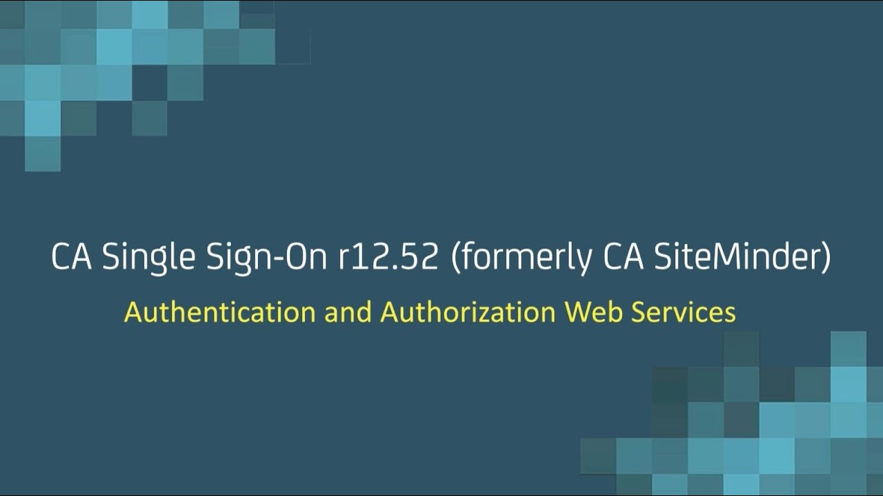 Configuring the Authentication and Authorization Web Services - CA