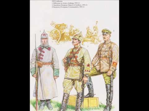 Red Army of the Russian civil war, Soviet soldiers 1918-22 / Rote Armee im russischen Bürgerkrieg