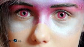 Kolorowe soczewki PartyEye Crazy - różowe Pink / Color Contact Lenses