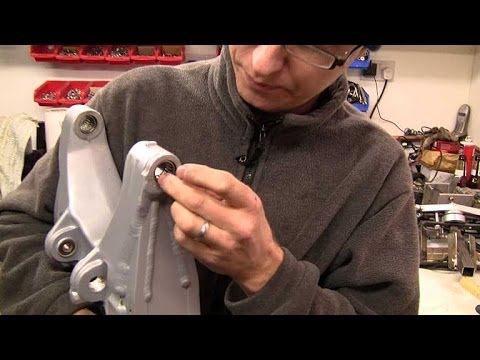 Swingarm bearing removal and replacement