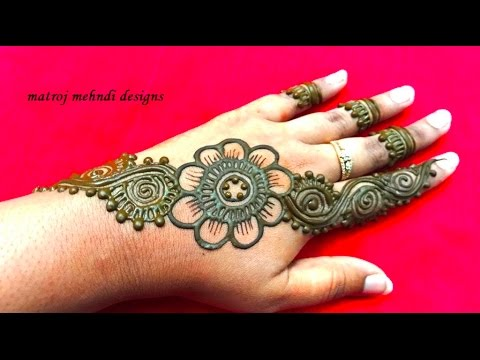 Easy Simple Mehndi Henna Designs For Hands Matroj Mehndi Designs