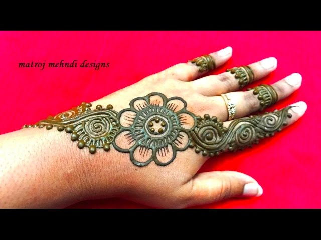 Easy Simple Mehndi Henna Designs For Hands Matroj Mehndi Designs Youtube