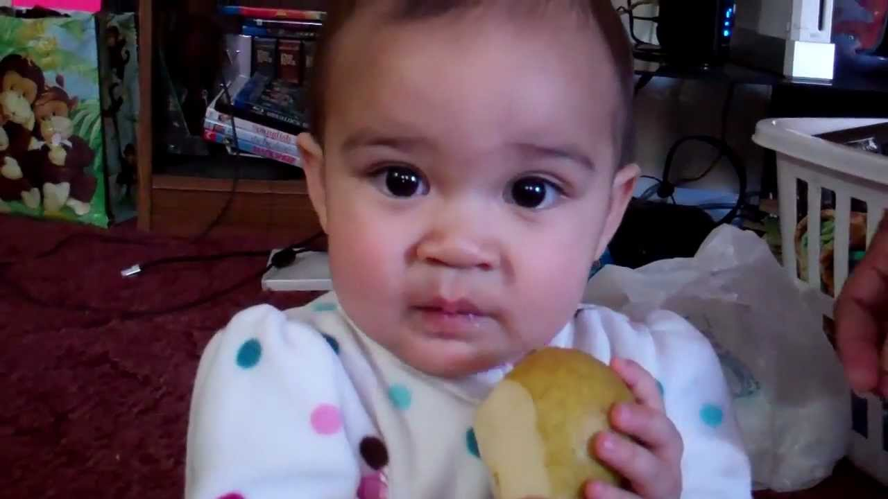 Image result for baby eating pear