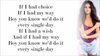 Selena Gomez - Do It (with Lyrics)