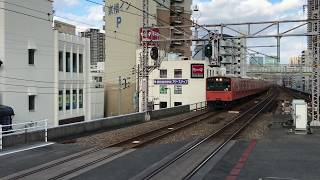 201系 近モリLB1編成  保安列車 梅田貨物線(大阪環状線) 野田駅にて 2018/01/02