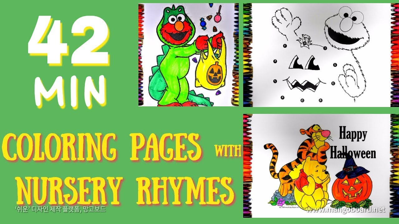 Halloween Coloring Pages for Kids- Sesame Street Elmo, Winnie The ...
