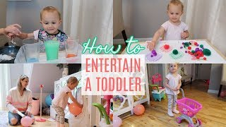 HOW TO ENTERTAIN A 2 YEAR OLD TODDLER| MONTESSORI ACTIVITIES AT HOME| Tres Chic Mama