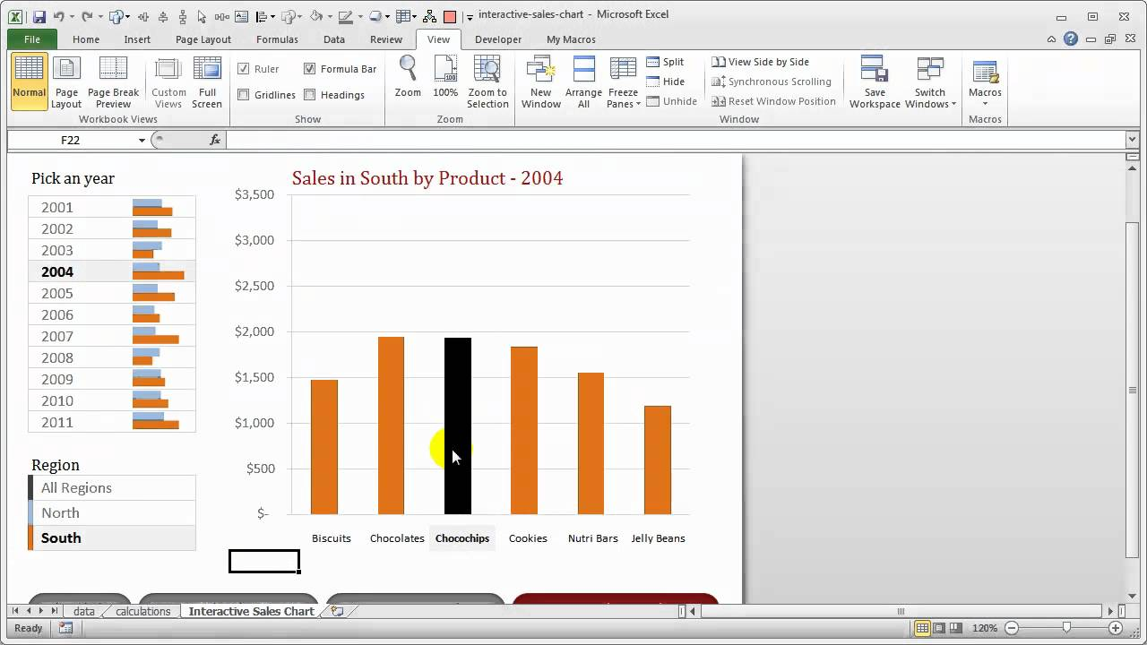 interactive sales chart in excel how it works youtube