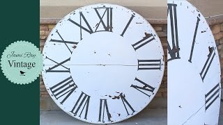 Over sized Wall Clock | Fixer Upper Inspired
