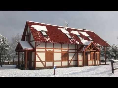 Barkocin Village in Winter - beautiful village in Poland