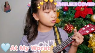 At My Worst by Pink Sweat$ | Ukulele Cover | Zoeline Piguing