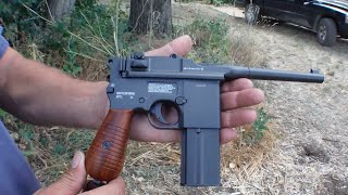 PoBoy Airguns Shoots the Legends M712 Full Auto Air Pistol!