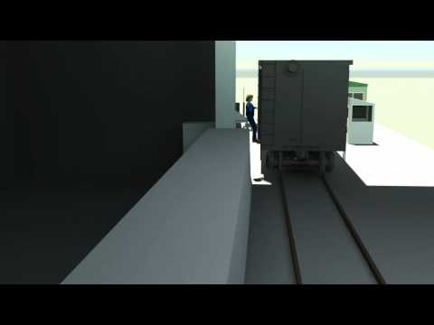 Accident Recreation of Injured Railroad Worker - Animation