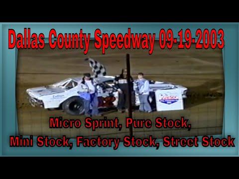 Dallas County Speedway 09-19-2003 Micro Sprint, Pure Stock, Mini Stock, Factory Stock, Street Stock