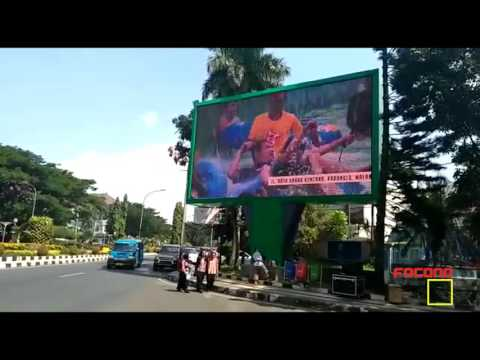 p10 outdoor led display shinning in Indonesia