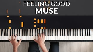 Muse - Feeling Good | Tutorial of my Piano Cover видео