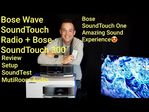 Bose Wave SoundTouch Music System IV Bose SoundTouch 300  Acoustimass 300 Add On Audio Setup👍