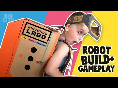 Nintendo LABO Gear Test! Robot Build And Gameplay!