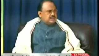Altaf Hussain with Mubashir Luqman - Part - 1/8
