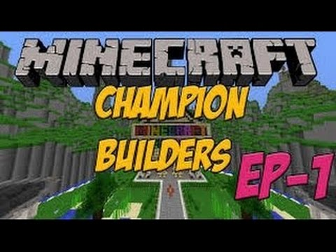 Minecraft Champion Builder, building a park! - YouTube on
