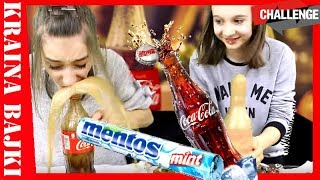 COLA I MENTOS CHALLENGE! Czy Monia wypije Colę z Mentosem? XD