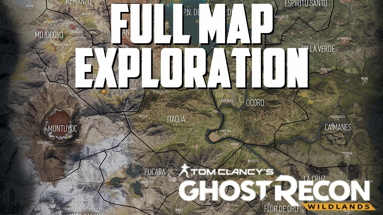 Ghost Recon Wildlands Karte.Ghost Recon Wildlands Full Map Exploration Racer Lt