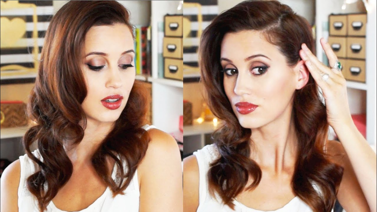 hairstyle for the holidays - 50's old hollywood glamour - youtube