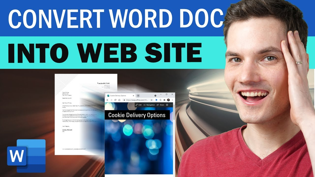 How to Transform Word Doc to Web Page #Shorts