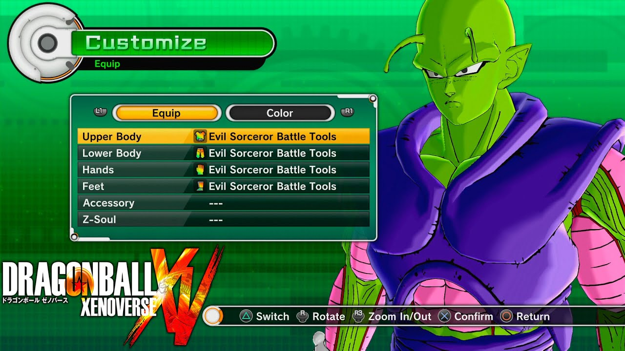 Evil Sorceror Battle Tools set review - 3★ 80k Namekian - Dragon ball  Xenoverse