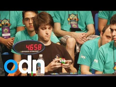 Champion 'speedcuber' solves Rubik's Cube in under 6 seconds