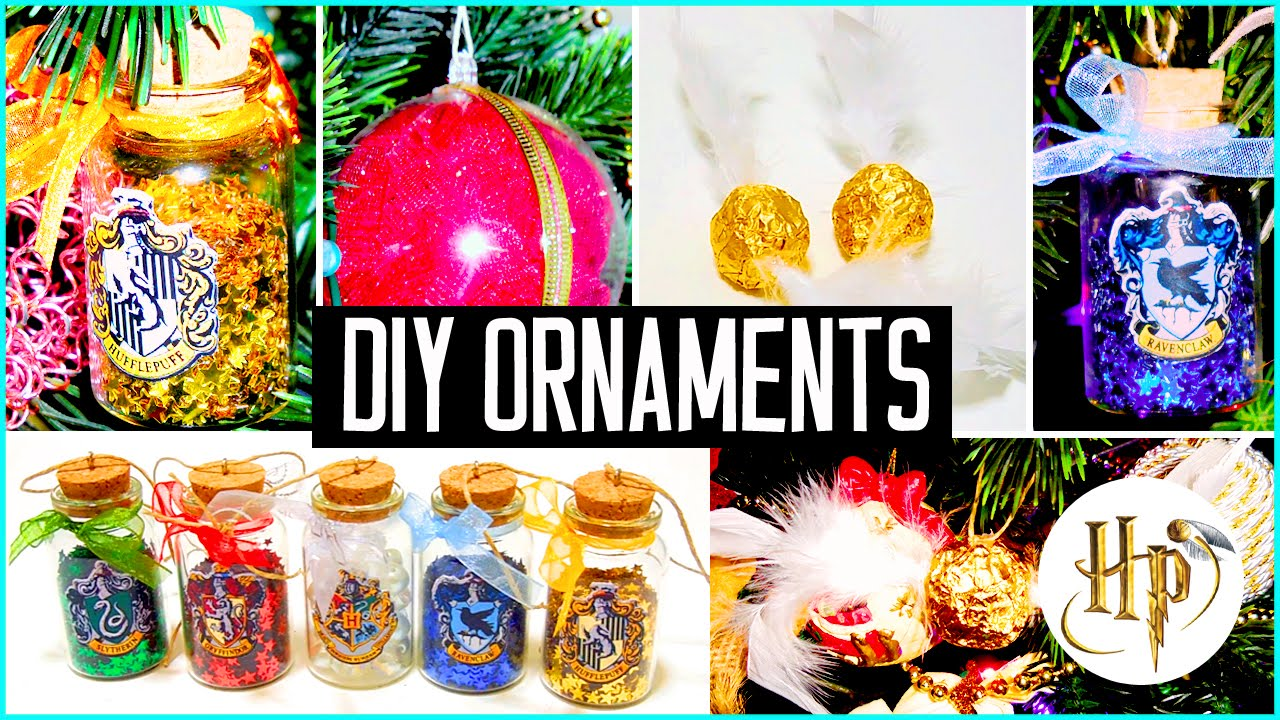 diy christmas tree ornaments harry potter inspired holiday decorations youtube