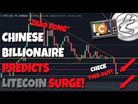 """Chinese Billionaire """"Zhao Dong"""" Predicts Litecoin Surge - $50k Bitcoin in 3 Years?"""
