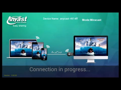 Wireless display to TV using AnyCast M2 Plus Mini Wi-Fi Display Dongle Receiver