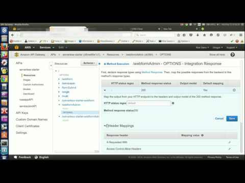 CORS headers for AWS API Gateway