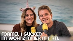 Mit RTL F1 gucken in meinem Wohnzimmer in Monaco!! Nico Rosberg