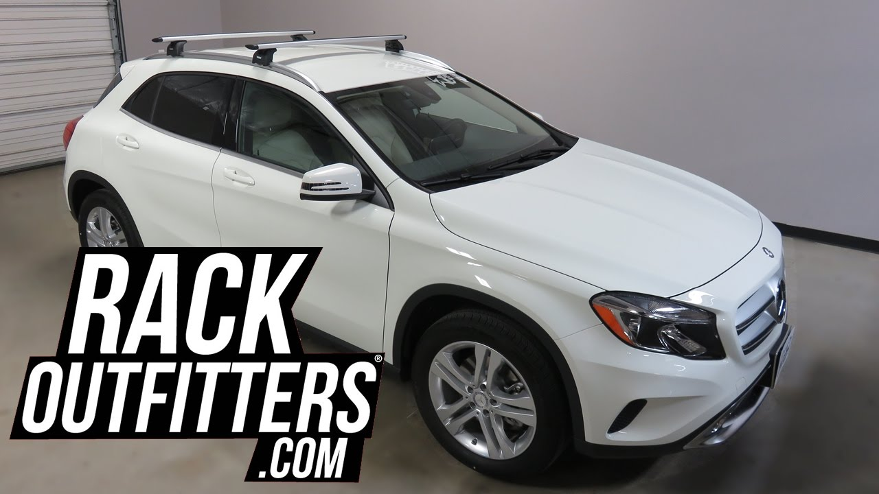 Mercedes Benz Gla Class With Thule Aeroblade Roof Rack