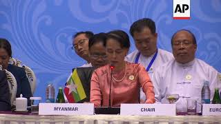 FMs from Asia and Europe meet in Myanmar