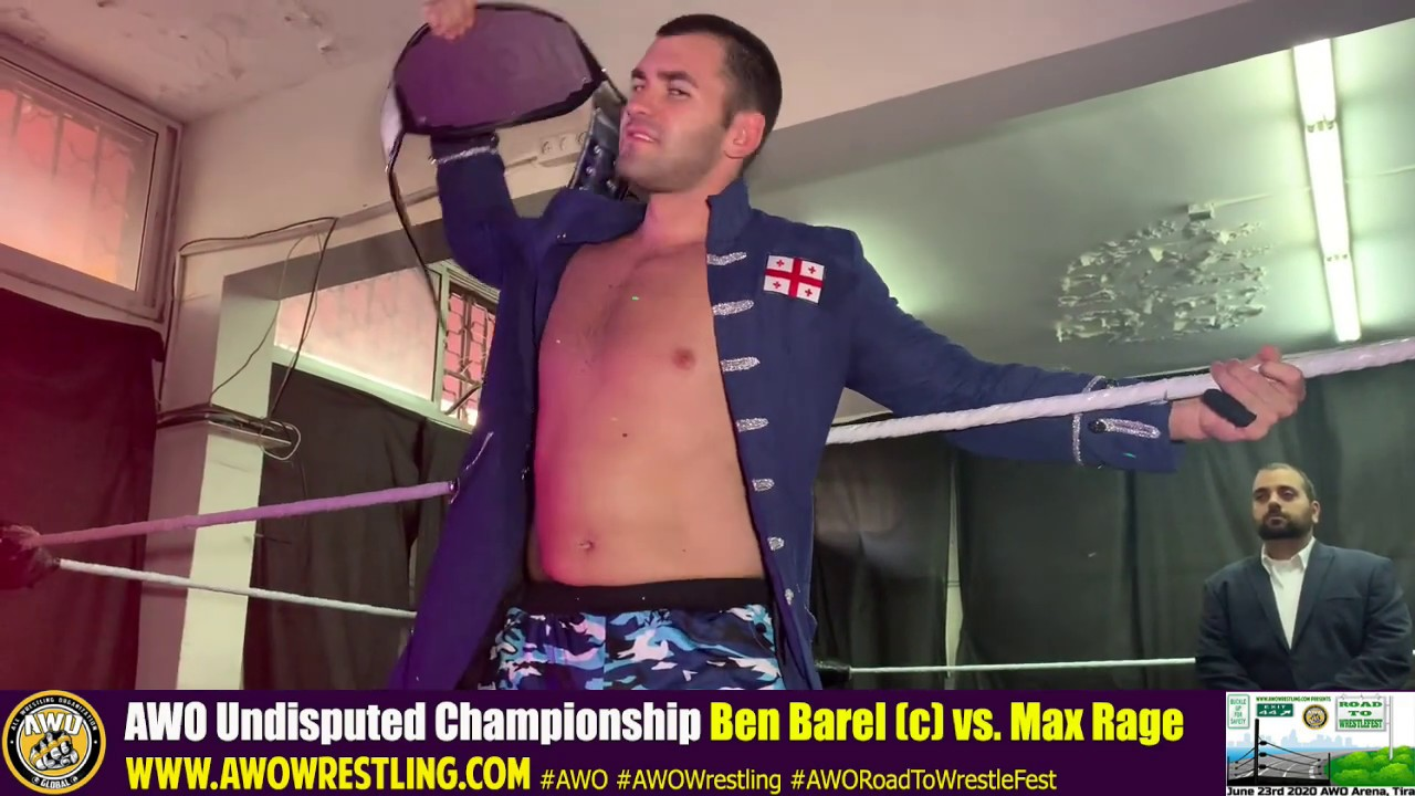 AWO Road To WrestleFest 2020 Ben Barel vs. Max Rage