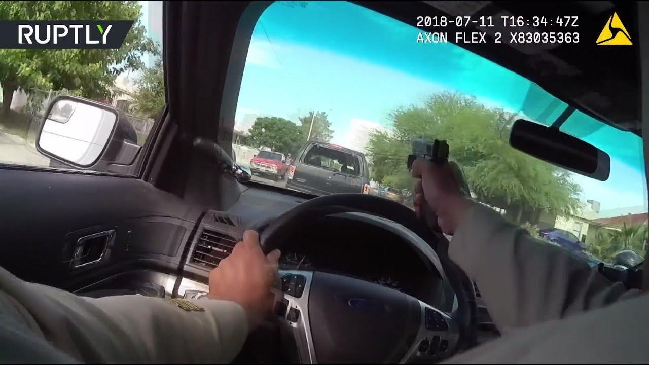 Работа полиции в Лас-Вегасе при преследовании подозреваемых в убийстве